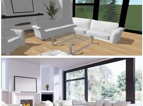 Design moderne et la luminosité du blanc avec keyplan 3d
