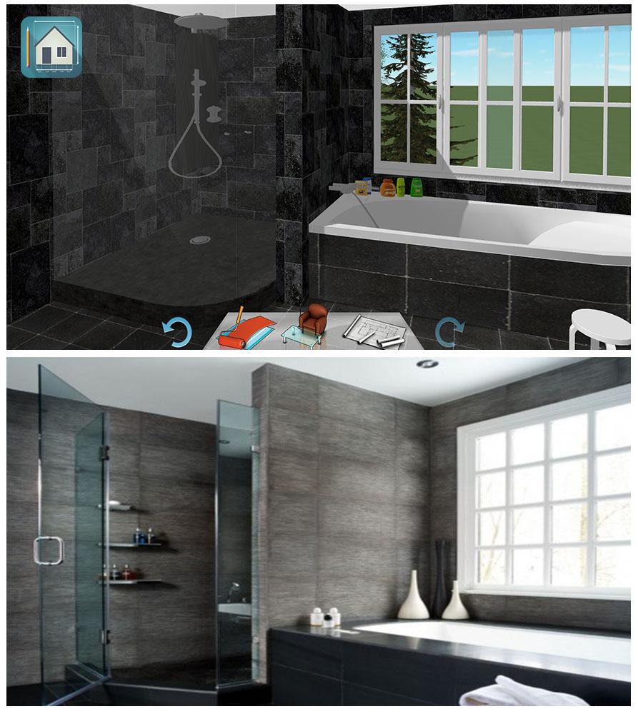 Inspiration salle de bain moderne keyplan 3d for Salle de bain 3d