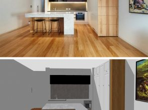 Inspiration: Marble and wood create by keyplan 3D new decoration