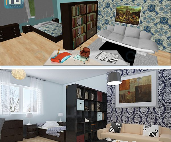 inspiration d co d 39 un studio keyplan 3d. Black Bedroom Furniture Sets. Home Design Ideas