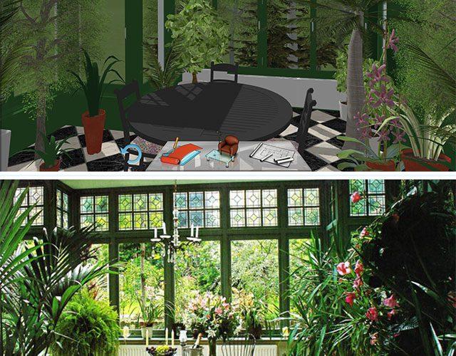 Inspiration: Winter garden :) by keyplan 3D  Inspiration : Jardin d'hiver