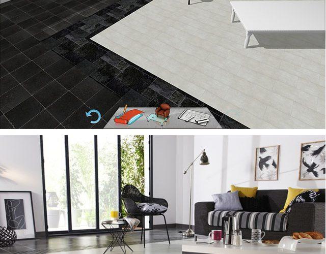 Inspiration : Bicolor floor