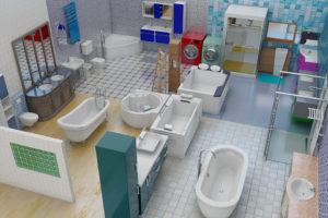 Bathroom pack keyplan 3D