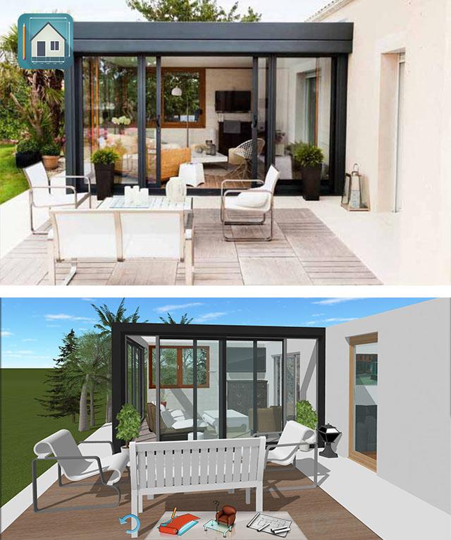 Inspiration lovely veranda keyplan 3d for Home design inspiration blog